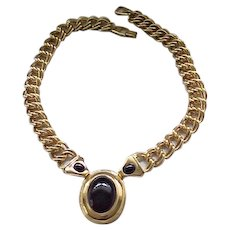Impressive Napier Necklace - Black and Goldtone