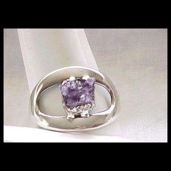 Fabulous Jacob Hull Sterling Bracelet - Amethyst Geode