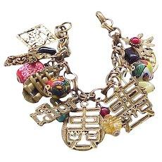 Napier Asian Theme Charm Bracelet - so Unique