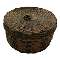 Mini Sweetgrass Basket with Lid