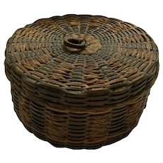 Mini Sweetgrass Basket with Lid