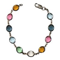 Crystal Bracelet Sterling Silver Milor