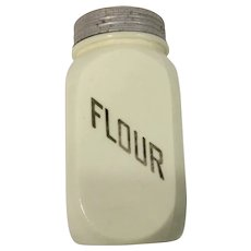 Custard Glass Flour Shaker - McKee