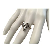 04 - Sterling Silver Snake Ring - Size 7 1/4