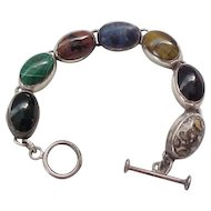 Super Nice Sterling Bracelet with Natural Stones