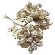 Superb HAR Brooch - Bouquet with Faux Pearls