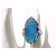 Exceptional Lapis and Sterling Silver Ring - Size 5