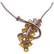 Elegant Lisner Rhinestone Necklace and Earrings - Early Design