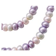 Lovely Cultured Pearl Necklace and Bracelet