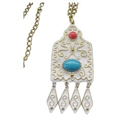 Fun Florenza Enamel Necklace
