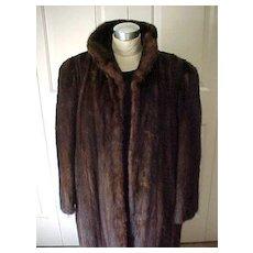 Luxurious Full Length Mink Coat - Highest Quality - Mahogany