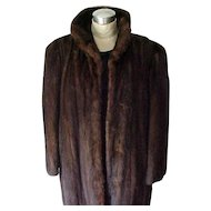Luxurious Full Length Mink Coat - Highest Quality - Mahogany