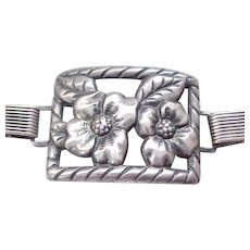 Early Danecraft Sterling Bracelet - Picture Frame Panels  Felch and Co.
