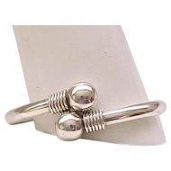 Chic Sterling Silver Bracelet - Mod Design - Adjustable Size