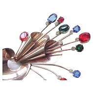 Spectacular CoroCraft Sterling Retro Brooch