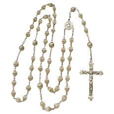 Lovely Sterling Silver Rosary - Vintage