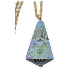 12 - 1960's Egyptian Revival Czech Necklace - King Tut