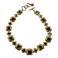 08 - Pretty Anne Klein Necklace Black Enamel