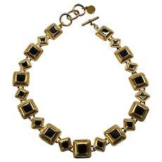 08 - Pretty Anne Klein Necklace Black Enamel