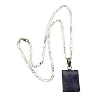 Sterling Silver Pendant Necklace Purple Charoite - so Pretty