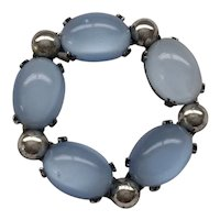 06 - Danecraft Sterling Pin Blue Faux Moonstones
