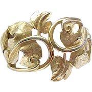 Chic Kunio Matsumoto Leaf Bracelet Trifari
