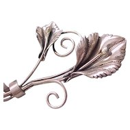 Lovely Coro Sterling Calla Lily Pin