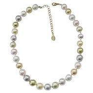 Chunky Faux Pearl KJL Necklace - Pretty Colors