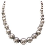 Lovely Sterling Silver Bead Necklace