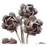 Stunning Coro Sterling Silver Bouquet of Roses Brooch