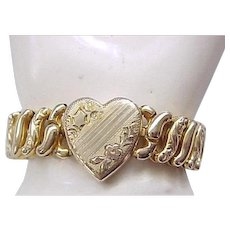 Sweetheart Expansion Bracelet - American Queen Pitman & Keeler - Heart Center