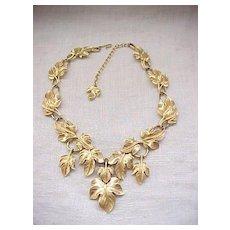 Classic Kunio Matsumoto Leaf Necklace