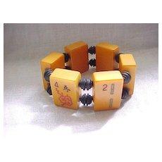 12 - Bakelite Mah Jong Bracelet - Stretchy