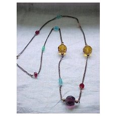 Gorgeous Czech Necklace - Glass Beads