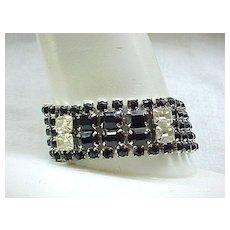Elegant Weiss Black Rhinestone Bracelet