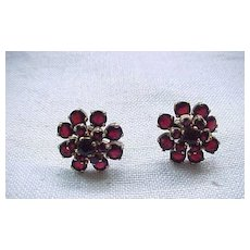 10 - Gorgeous Garnet Earrings - Screw Backs