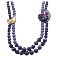 Asymmetrical Kunio Matsumoto Necklace - Shades of Purple