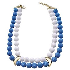 04 - Chic Monet Blue and White Necklace