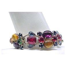 Spectacular Weiss Bracelet, Earrings - Jewel Colors
