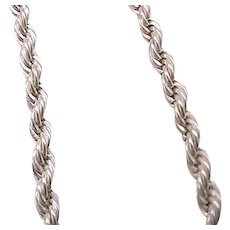 09 - Gorgeous Sterling Silver French Rope Chain - 32 1/2 inches Long