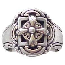 Sterling Silver Ring - Celtic Cross - Size 7 1/4