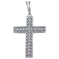 Lovely Danecraft Sterling Cross with Chain