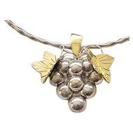 11 - Grape and Leaf Pin/Pendant, Bracelet, Earrings