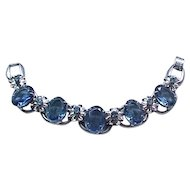Gorgeous Juliana Bracelet Blue Oval Rhinestones