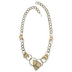 Chic Modernist Kunio Matsumoto Enameled Necklace - Trifari