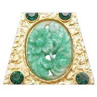 Impressive Asian Style Necklace - Faux Jade Centerpiece
