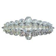 Glitzy Eisenberg Diamante Rhinestone Pin Brooch
