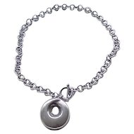 Chunky Sterling Silver Chain and Pendant - 55 Grams