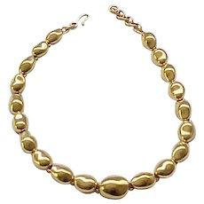 10 - Chunky Monet Goldtone Necklace