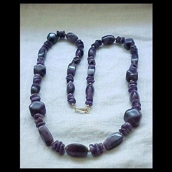 Impressive Amethyst Necklace Natural Stones